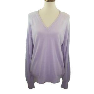 Christian Dior Monsieur Purple V-Neck Sweater